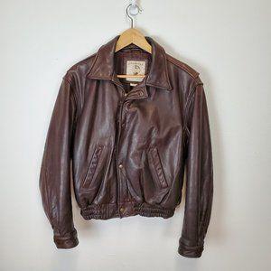 Banana Republic Men's 100% Leather Bomber Jacket